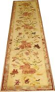 Vintage Floral Turkish Oushak Ushak Rug Size 2and0392and039and039x9and0392and039and039