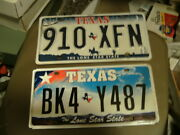 Used/expired Texas License Plate Lot 10 Total -- All Texas Plates
