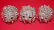 Antique Ethnic Silver Fabricated Metal Beads Filigree From Yemen, African Trade