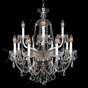 New Crystals Chandelier Alexandria 24k Gld Plated 31x28