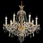 New Crystals Chandelier Alexandria 24k Gld Plated 28x26