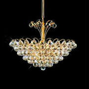 New Crystal Chandelier Godiva 24k Gold Plated 22x20