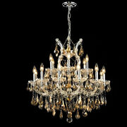 New Crystal Chandelier Maria Theresa Chrome 19lt 30x28