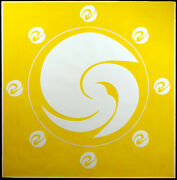 Jack Youngerman Orbit Yellow Signed And Numbered Silkscreen Pochoir And Intaglio