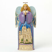 Jim Shore Christmas Angel W/cathedral Church Figurine Angels Gather 4042968