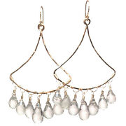 Bali 58 Curved Drop Hoop Earrings With Stone And Metal Choice