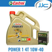 Castrol Power 1 10w40 Oil And Hiflow Filter For Bmw 2008 R1200 Gs Hf164