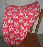 Horse Saddle Cover Orange Russian Doll And Free Embroidery Aussie Made Protection