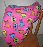 Horse Saddle Cover Pink Little Monsters And Free Embroidery Aussie Made Protection