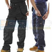 Click Rugged Heavyweight Work Trouser Tough Fabric Knee Pad And Holster Pockets