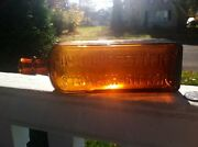Hostetters Stomach Bitters Orange Amber Nice Clean Example
