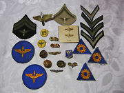 Wwii Us Air Corps Patches Pins Militaria Military Lot Aviation T