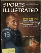 Oct 5 1959 Sports Illustrated Magazine With Johnny Unitas Cover Vg