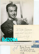 Turhan Bey Vintage Original 1947 Photo And Rare Signed Autograph Card And Envelope