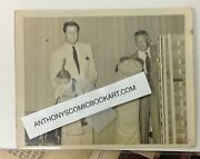 Original 1950's Bob Clampett Beany And Cecil On Stage Unpublished Photo 4 X 5