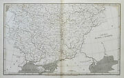 1809 Russia In Europe South Part Genuine Arrowsmith Antique Map