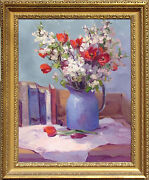 Marilyn Yanke Promises Hand Signed Original Oil Painting On Canvas Floral Art