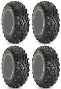 Four 4 Carlisle At489 Atv Tires Set 2 Front 24x9-12 And 2 Rear 24x11-12 489 A/t