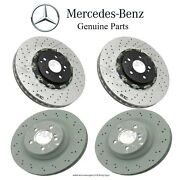 For Mercedes W219 E63 Amg 2007-2009 Genuine Front And Rear Disc Brake Rotors Kit