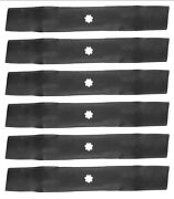 Set Of 6 John Deere 48 Lawn Tractor Mower Blades Gx21784 Gy20852 Free Shipping