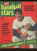 1952 Baseball Stars Complete Magazine With Bobby Thomson Front Cover