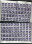 Switzerland Stamps 1924 Yv Service 171 1/2 Sheets 50 Stamps Canc Value 3000