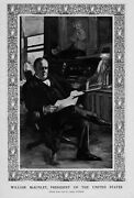 William Mckinley President Of The United States At His Desk By Lucius Hitchcock