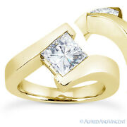 Forever Brilliant Square Moissanite Solitaire Engagement Ring In 14k Yellow Gold
