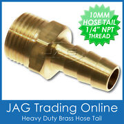 Brass 10mm 3/8 Hose Tail Fitting Barb 1/4 Npt Thread Outboard/fuel Tank Line