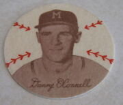 1954 Preferred Products Douglas Felts Danny O'connell Milwaukee Braves Patch