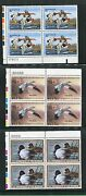 Federal Duck Stamps Rw54- 68 Vf, Nh Plate Blocks