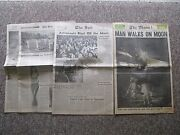 1969 Man On The Moon Full Newspaper With Insert Plus Two Magazines.