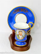 Dresden Napoleonic Amazing Quality Super Rare Porcelain Cup And Saucer