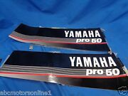 1987-1989 Yamaha Top Cowling Pro 50 Hp Decal Graphic Set 6h5-w0070-y0-00