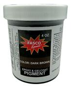 Dark Brown Pigment For Gel-coats And Epoxies 4 Oz
