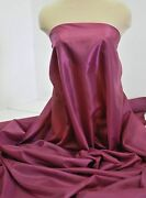 Poly Lining Fabric Magenta 1 Yd. Wedding, Formal, Suits, Dresses , Pants, Crafts