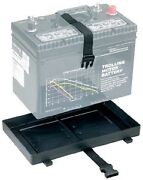 New Battery Tray With Strap Holder Attwood Marine 9092-5 Fits Group 24 12-3/8 L
