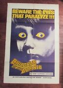 1964 Children Of The Damned 1-sh Movie Poster 27x40 Vg+ Military Only Ed. Rare