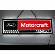 Neon Sign In Steel Can Ford V8 Pickup Truck F150 Mustang Dads Garage Wall Lamp