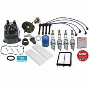 Tune-up Cap-rotor-ngk Wires-spark Plug Pcv Kit For Honda Accord Lx Ex 4cyl