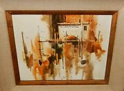 Ritchie A Benson Lobsters Fishing Boat Original Acrylic On Board Painting