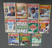 Lot Of 11 Inside Sports Magazines With Baseball Covers And Content, 1984-1989