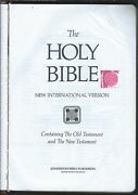 Holy Bible International Version Old And New Testament Zondervan 1984