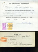 British Columbia And Saskatchewan Law Stamps On Dument W/ Better Roulette Etc 590