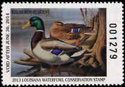 Louisiana 25a 2013 State Non-res Duck Stamp Mallards By Ronald Louque