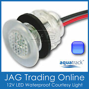 Blue Led Livewell Bait Tank Light/courtesy Lamp - Boat/caravan/stair/step/accent