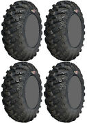 Four 4 Gbc Grim Reaper Atv Tires Set 2 Front 25x8-12 And 2 Rear 25x10-12