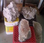 Lot Of Four Very Large Decorative Fine Mineral Crystal Specimen Quebec Canada.