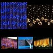 1800 Led Fairy Curtain String Lights For Wedding Party Xmas In/outdoor Decor