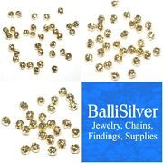Wholesale Lots 14kt Gold Filled Hammered Beads 3mm, 4mm, 5mm - Jewelry Findings